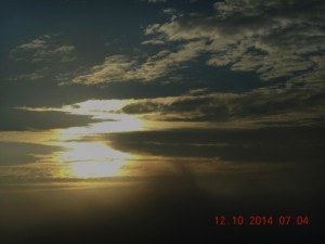Vychod zapad slunce